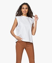 Les Coyotes de Paris Devon Shoulder Padded Top - White