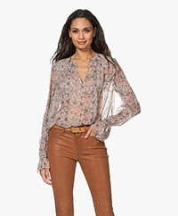 Zadig & Voltaire Taya Mousseline Print Blouse - Vanille