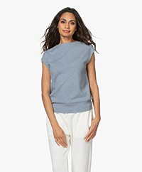 Repeat Organic Cashmere Slipover - Dusty Blue