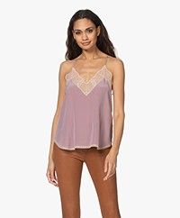 Zadig & Voltaire Christy Silk Camisole - Parme