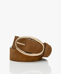 Vanessa Bruno Suede Leather Belt - Chocolat