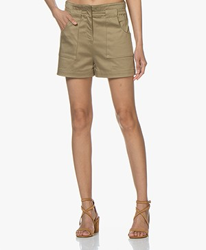 ba&sh Alek Cotton Shorts - Khaki
