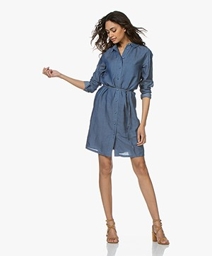 Denham Adventure Chambray Shirt Dress - Indigo
