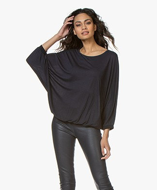 BY-BAR Joy T-shirt with Batwing Sleeves - Dark Navy