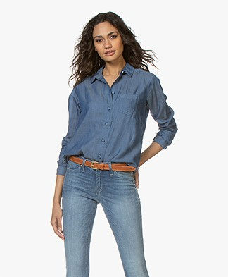 Denham Adventure Chambray Blouse - Indigo