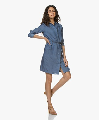 Denham Adventure Chambray Shirt Dress - Indigo