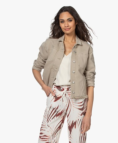 Repeat Cotton Blend Twill Jacket - Pepper