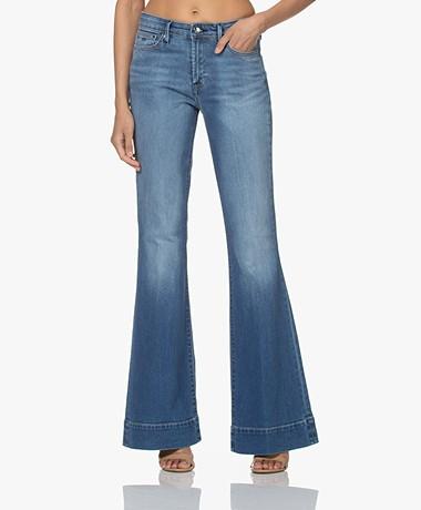 Denham Jane High-rise Flared Jeans - Mediumblauw