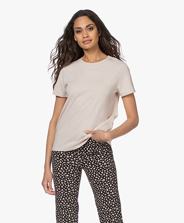 Closed Cotton-Linen Blend T-Shirt - Lychee