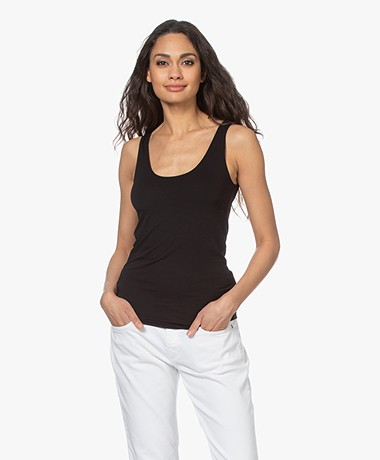 Majestic Filatures Abby Superwashed Tank Top - Black