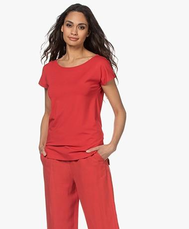 Kyra & Ko Dedina Viscose T-shirt - Burnt Red
