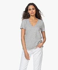 Rag & Bone The Vee T-shirt - Grijs Mêlee