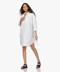 By Malene Birger Nikolana Cotton Poplin Shirt Dress - Pure white