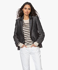 Zadig & Voltaire Victor Fantaisie Lurex and Sequin Blazer - Black