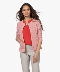 Kyra & Ko Elin Jacquard Blazer Jacket - Rose