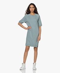 by-bar Neva Organic Cotton Sweater Dress - Blue Smoke