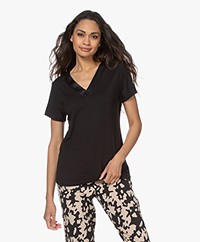 Calvin Klein Modal V-neck Pajama Top - Black