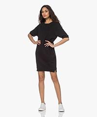 by-bar Neva Organic Cotton Sweater Dress - Jet Black