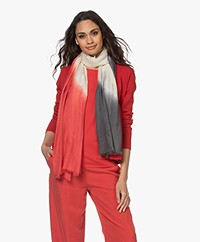 Kyra & Ko Noell Modal Dip-dye Sjaal - Burnt Red