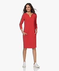 Kyra & Ko Cisca Bi-stretch Crepe Jersey Shift Dress - Burnt Red