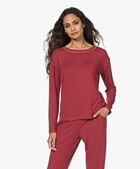 Calvin Klein Modal Jersey Lounge Long Sleeve - Deep Sea Rose