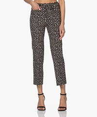 Drykorn Basket Printed Stretch Pants - Black