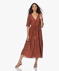 Vanessa Bruno Rafaelle Silk Blend Printed Dress - Cherry