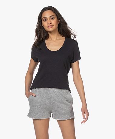 American Vintage Jacksonville Round Neck T-shirt - Navy