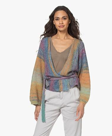Mes Demoiselles Revival Mohair Blend Kimono Cardigan - Multi-color