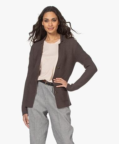 Belluna Velozo Cotton Blazer Cardigan - Brown