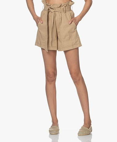 Mes Demoiselles Croft Cotton Paperbag Shorts - Sand