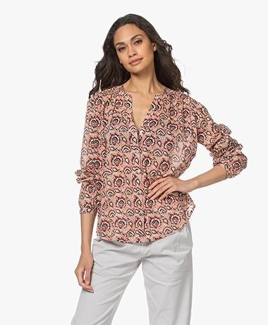 MKT Studio Cazano Printed Cotton Blouse - Pink