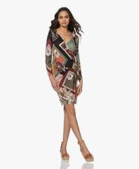Majestic Filatures Jersey Print Wrap Dress - Blush
