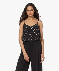 Equipment Layla Star Printed Silk Camisole - Black