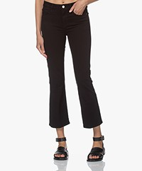 FRAME Le Cropped Mini Boot Stretch Jeans - Black