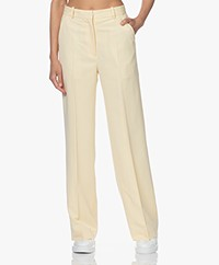 By Malene Birger Saule Viscose Blend Pants - Vanilla