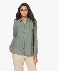 Pomandère Linen Shirt - Sage Green