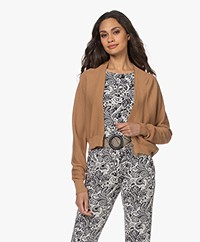 no man's land Kort Katoenen Open Vest - Toffee