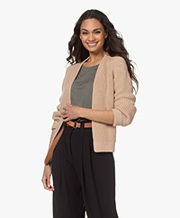 by-bar Berry Ebany Open Ribbed Cardigan - Nude
