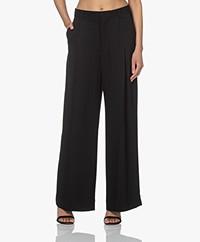Filippa K Stacey Twill Pleated Pants - Black