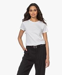 Filippa K Cotton R-neck T-shirt - White