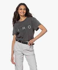 IRO Iroyou Katoenen Logo T-shirt - Donkergrijs