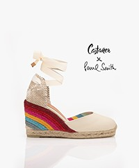 Castaner Paul Smith Limited Carina 10cm Sleehak Espadrilles - Ivory