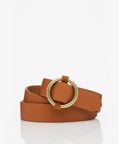 ba&sh Cassius Leather Waist Belt - Camel
