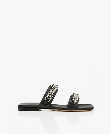 ANINE BING Tony Leather Sandals - Black