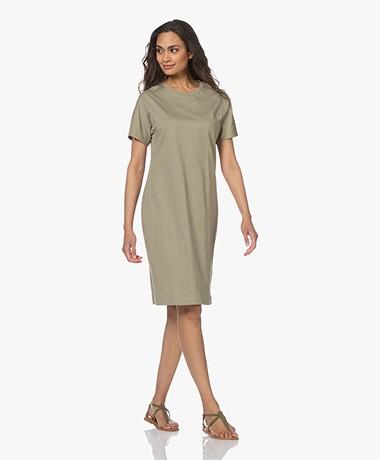 Filippa K Effie Cotton T-shirt Dress - Sage Green