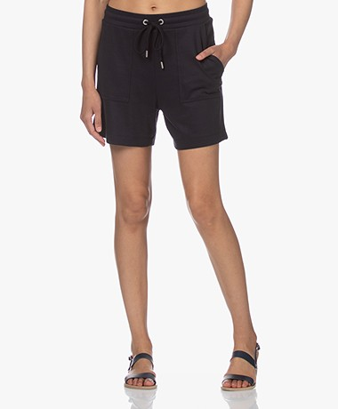 JapanTKY Fayo Lyocell Blend Jersey Shorts - Black Blue