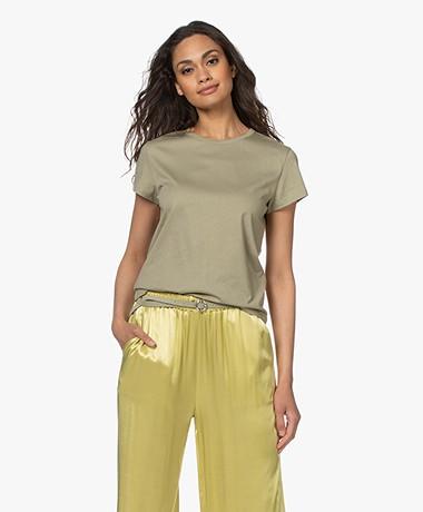 Filippa K Edna Organic Cotton T-shirt - Sage Green