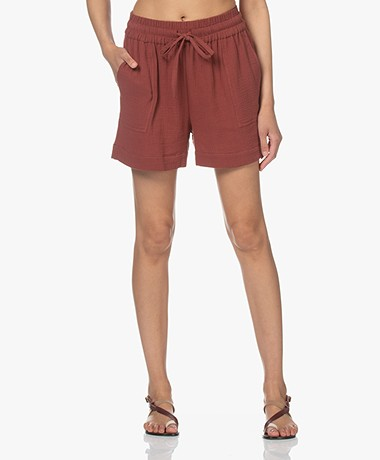 Shades Antwerp Amelie Mousseline Shorts - Brick Red