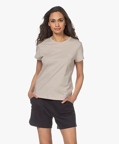 Filippa K Edna Bio Katoenen T-shirt - Lichtbeige